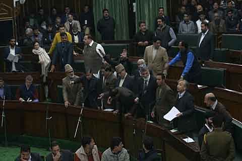 Opposition walks out against cane-charging of protestors in Jammu