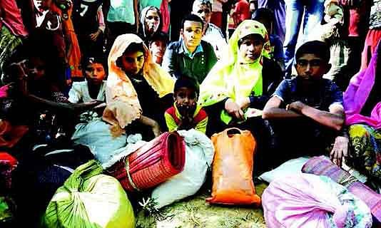 Panthers Party protest against Rohingya Muslims in Jammu