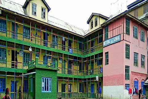 Sorry state of affairs: 4 schools function under one roof