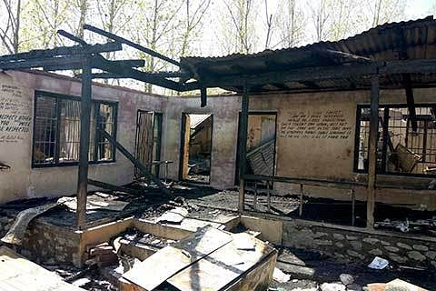 2 schools designated as polling stations torched in South Kashmir