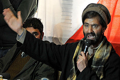 Poll boycott in central Kashmir people's referendum: Yasin Malik