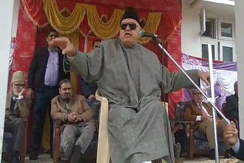 Farooq to New Delhi: 'Wake up, talk to Pakistan or lose Kashmir'