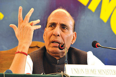 Rajnath 'fully agrees' with Army chief's remarks on stone-pelters