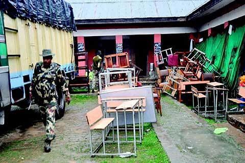 Schools still occupied by forces rendered vulnerable