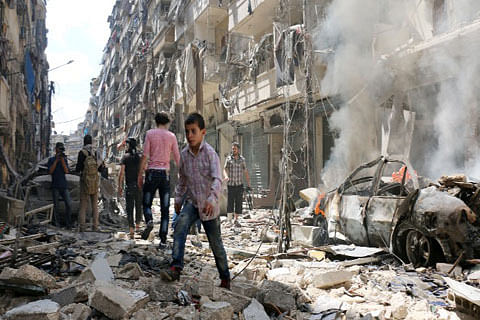 """Assad says chemical attack """"100 per cent fabrication"""""""