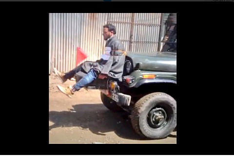 Video of youth tied to army jeep evokes anger in Kashmir