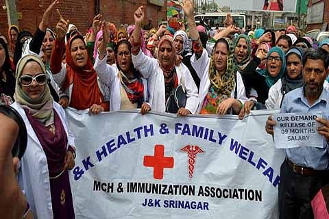 Family Welfare Employees continue protests