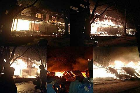 Mysterious fire wreaks havoc in Bhatyas Doda