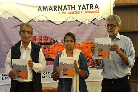 Faith of Amarnath pilgrims used for political interests: Report