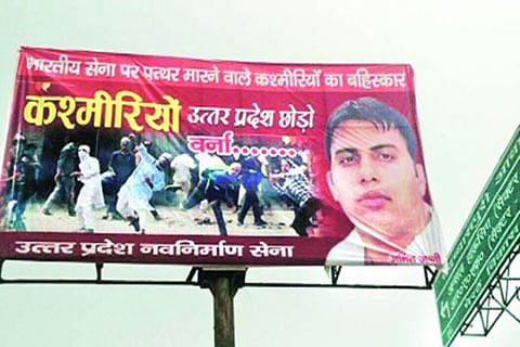 Banners asking Kashmiris to leave UP come up in Meerut