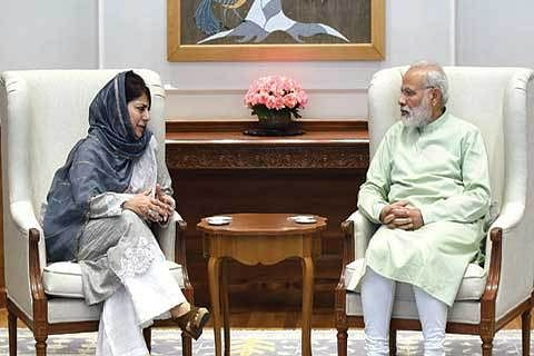 CM-PM MEET IN NEW DELHI | PM open to talks, but need to create atmosphere: Mehbooba