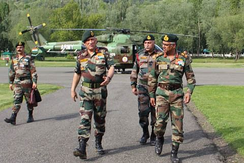 Army chief arrives in Kashmir on two-day visit