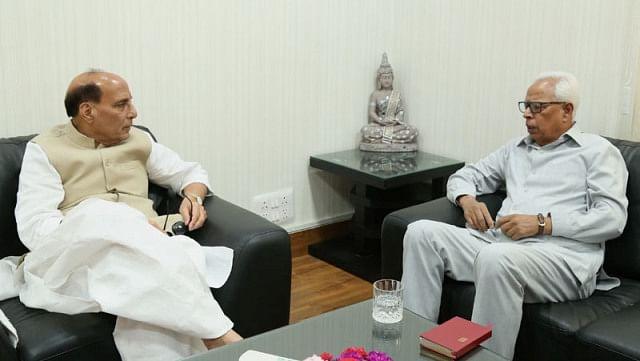 Jammu Kashmir Governor meets Rajnath Singh in Delhi