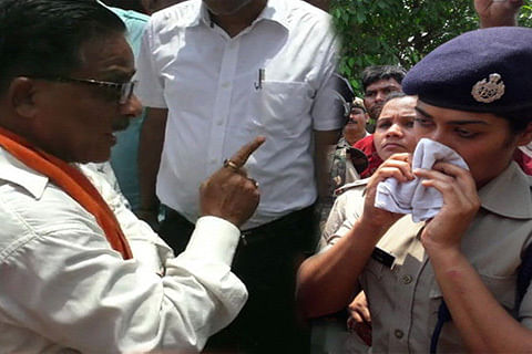 BJP MLA yells at woman IPS officer, reduces her to tears