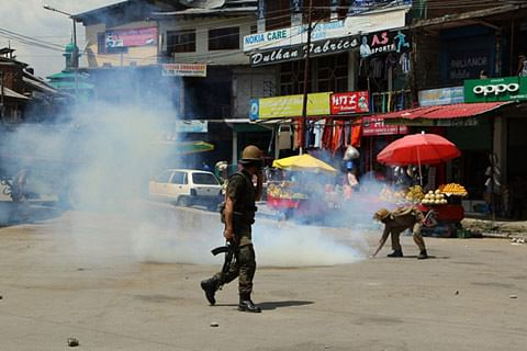 Students clash with police in Pulwama