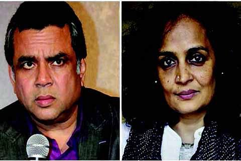 Tie Arundhati Roy to jeep instead of stone-pelter: MP Paresh Rawal