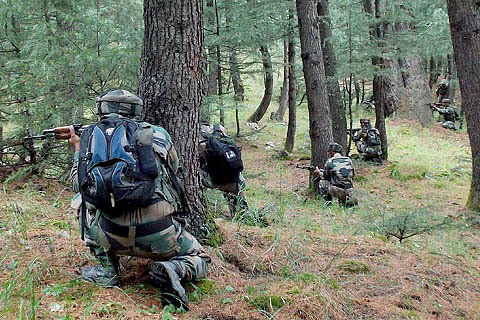 Two militants, as many soldiers killed in gunfight near LoC in Rajouri