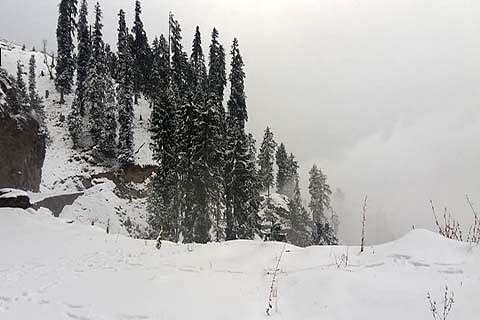 Icy winds, snowfall make Bhaderwah shiver