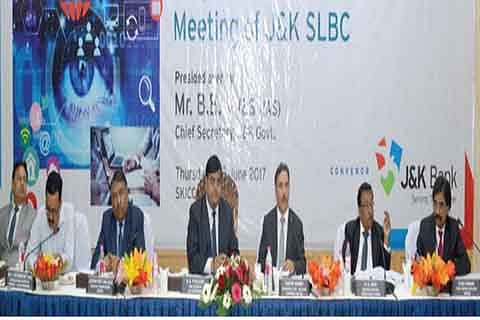 104th SLBC Meet: J&K Bank contributes 71% of credit disbursed in state