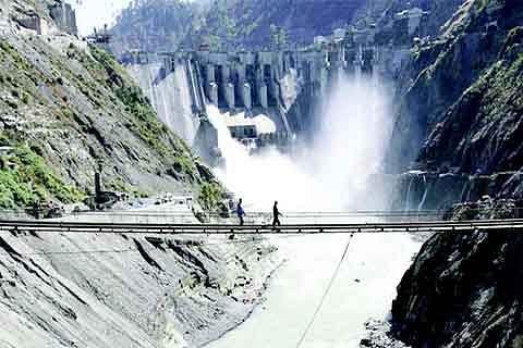 Under construction dam  of 48 MW Dunnadi HEP damaged