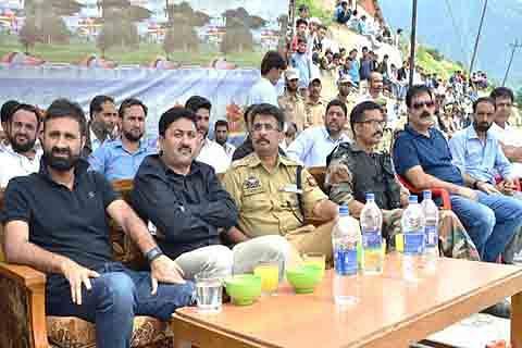 Parvez Rasool inaugurates Banihal Premier League