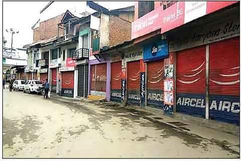BURHAN  ANNIVERSARY: Bhadarwah observes strike, also resents implementation of GST