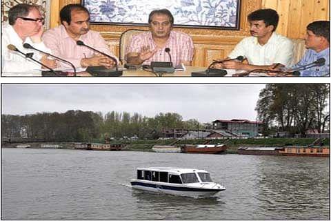Trial run of public water transport soon in Jhelum, Dal Lake