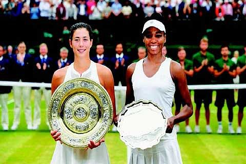 Muguruza demolishes Venus to clinch maiden Wimbledon title