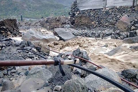 Cloudburst triggers flash flood in central Kashmir's Ganderbal, several houses damaged