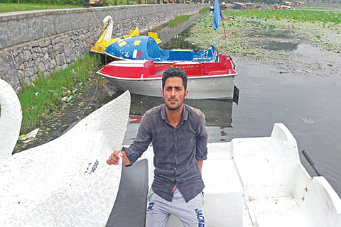 In Manasbal, promoting water sports for earning livelihood
