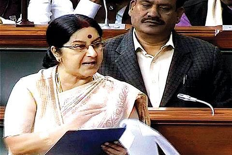 Talks and terror cannot go together, Sushma on Pakistan