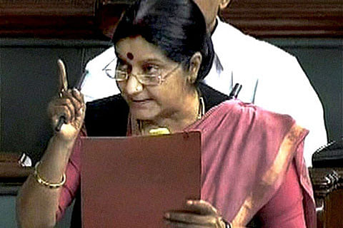 """Dialogue with Pakistan can start the day it stops """"terror"""": Swaraj"""