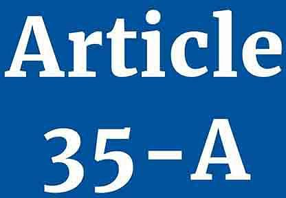 Article 35-A and smiling Jinnah