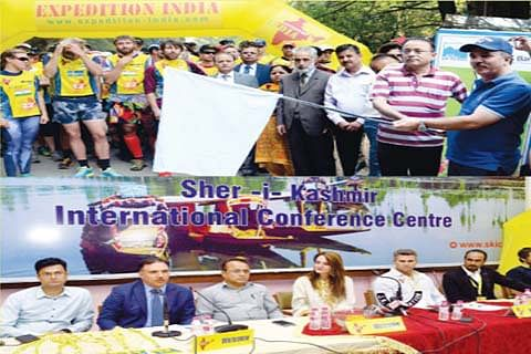 Chairman J&K Bank, Commissioner Tourism flag off Expedition India Adventure Race-2017