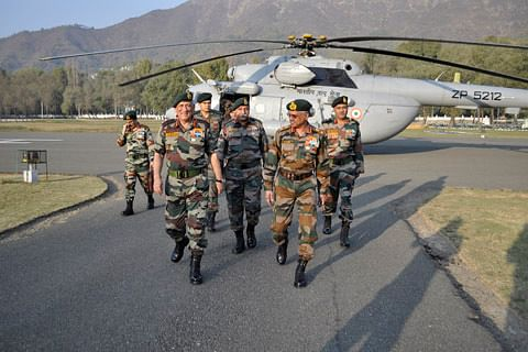 Army chief visits Srinagar to review security situation