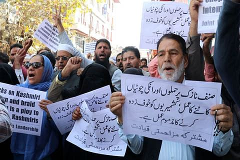 JRL protests against braid cutting, calls it a ploy to intimidate Kashmiris