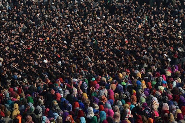 Thousands Attend Last Rites of Slain LeT mIlitant Yawar Bashir in Kulgam