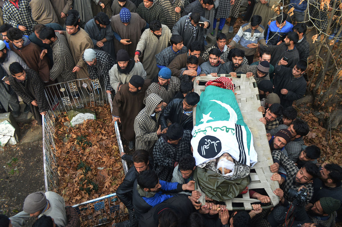 Thousands Attend Last Rites of Slain Jaish Commander Noor Trali