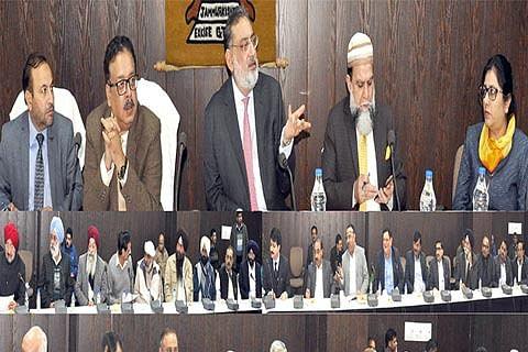 Drabu holds pre-budget consultations with Jammu Inc