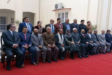 Jammu and Kashmir: Tassaduq Mufti, Javaid Mustafa Mir take oath as Ministers of the State