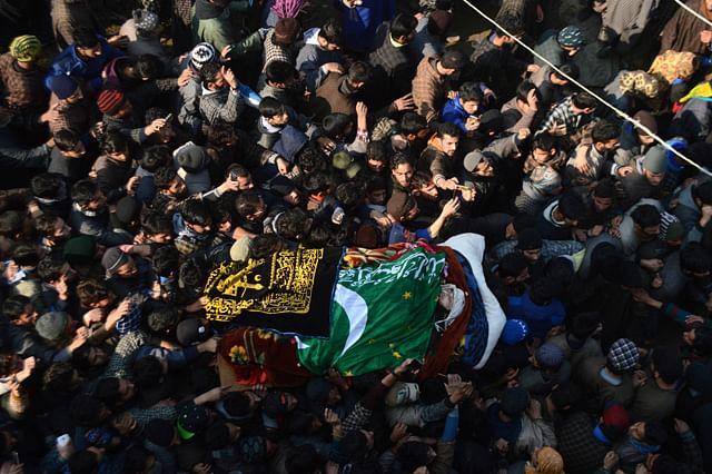 Thousand Attend Last Rites of Slain Militant Farhan Wani in South Kashmir