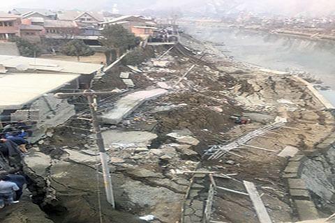 'Disaster' near Disaster Management minister's house at Lasjan
