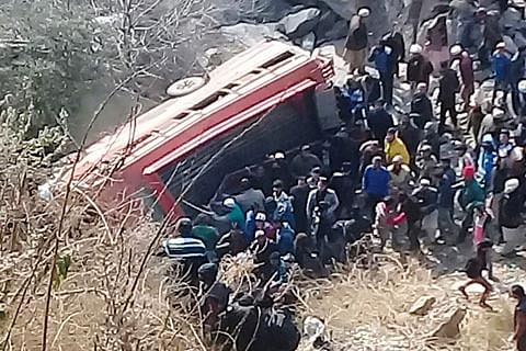 Woman killed, 35 injured after vehicle plunges into stream in Doda