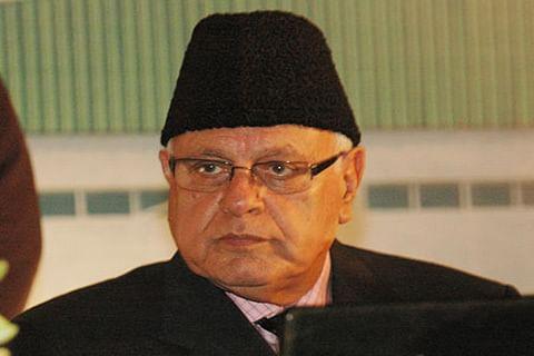 Farooq hits at Pakistan, Omar targets BJP