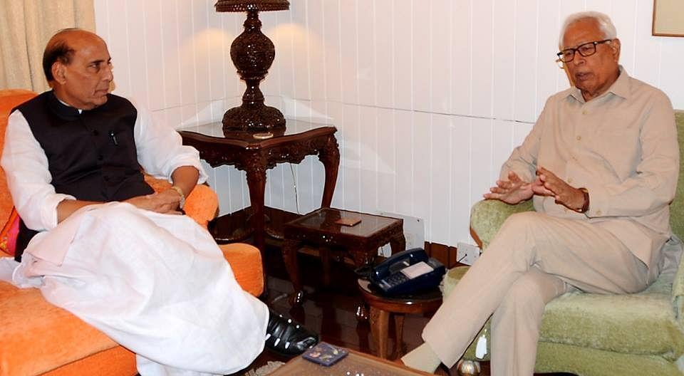 Vohra meets Rajnath Singh