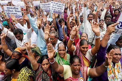 Dalit protests spread across Gujarat