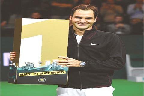 Federer at 36 becomes world's oldest No 1