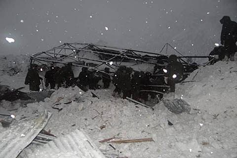 No trace of 3 men missing in Lolab avalanche