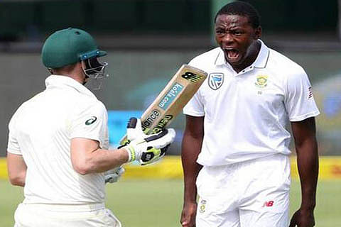 S Africa's Rabada charged over Smith shoulder bump, faces ban