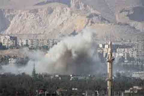 Russian airstrikes, Syrian govt bombardment kill 46 in Ghouta